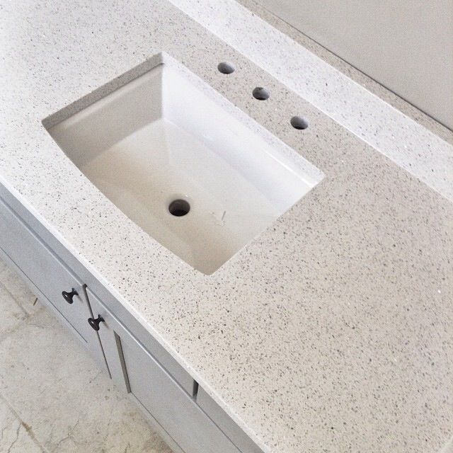 Quartz Bathroom Countertops Home Depot: Stellar Snow Quartz Countertop