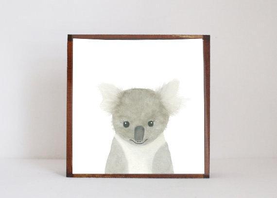 Koala Wall Art Nursery Decor