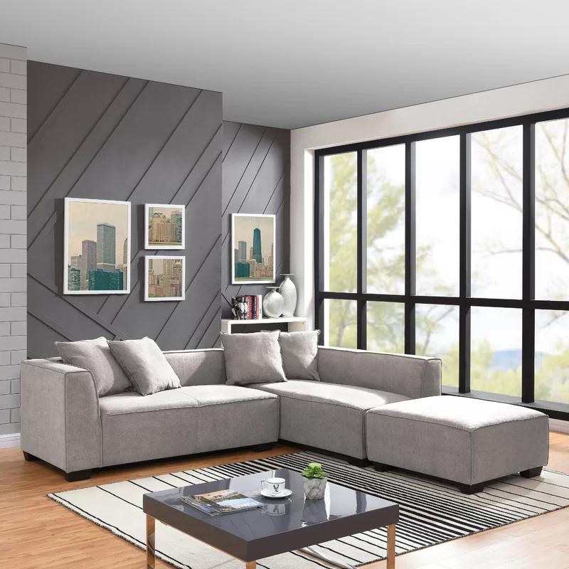 Daria 134 Modular Sectional With Ottoman Cheap Living Room Sets Modular Sectional Sectional Sofa Couch