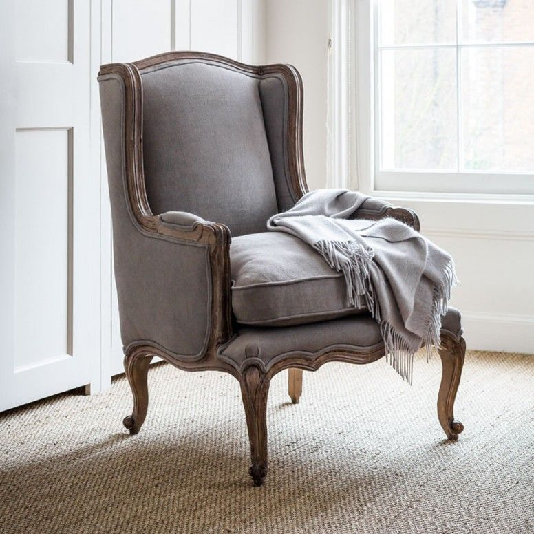 Louis French Armchair   Dove Grey | Within Home