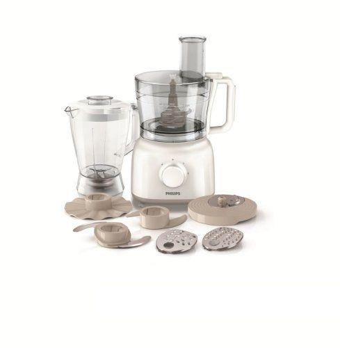 Philips HR7628/00 2 en 1 Robot Daily Blanc et Beige 650 W Bol 22 L - Philips Cucina Küchenmaschine