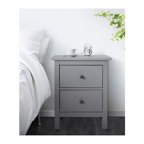 hemnes kommode mit 2 schubladen grau lasiert wohnideen pinterest hemnes schubladen und ikea. Black Bedroom Furniture Sets. Home Design Ideas