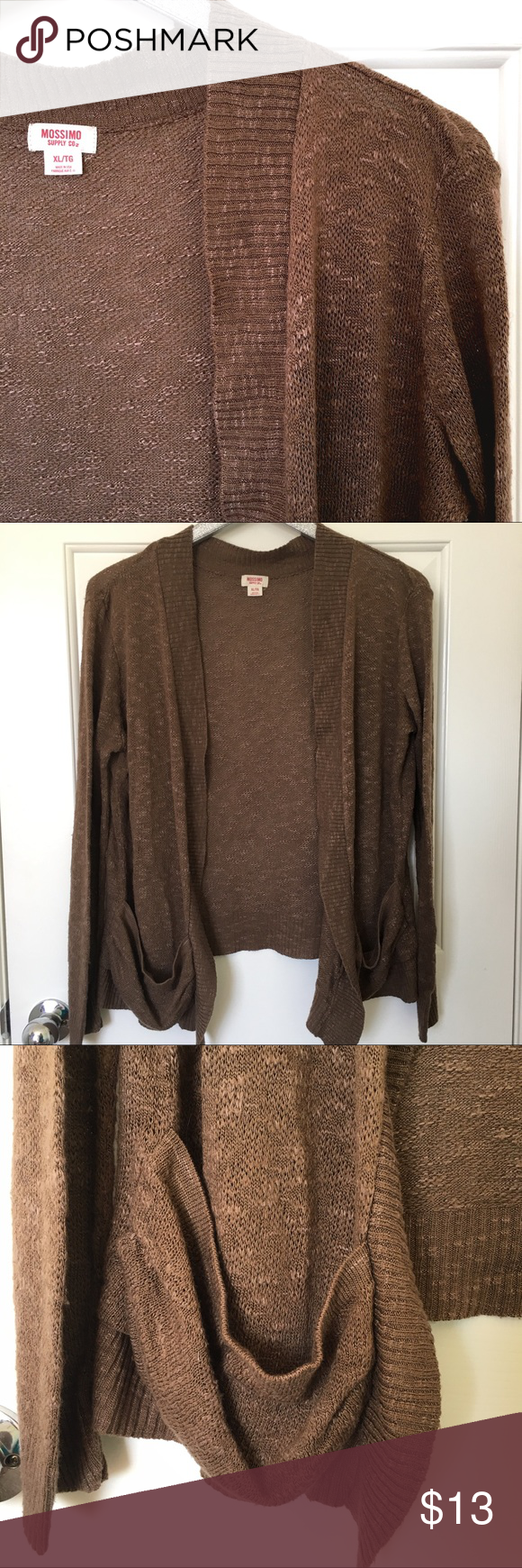 Brown open front boyfriend cardigan This cardigan is great for ...