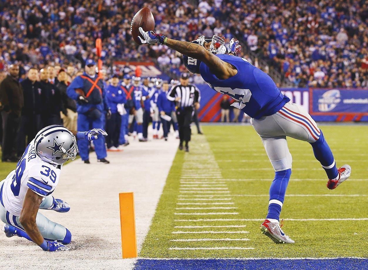 Best Nfl Catches Of The Super Bowl Era Odell Beckham Jr Beckham Jr Ny Giants Football