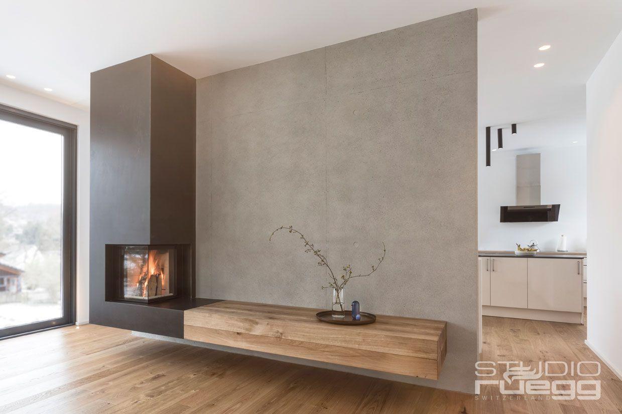 Photo of Eckkamin mit verlängerter Ofenbank aus Holz #Eckkamin #Kamin #fireplace #Ofen #…