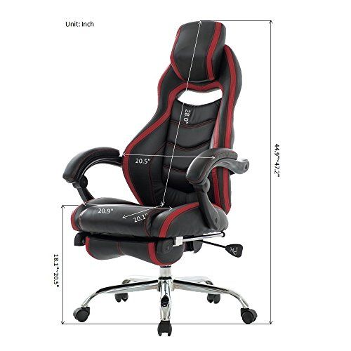 VIVA OFFICE Fashionable High Back Reclining Chair Bonded Leather Gaming Racing Style swivel ChairTask Chair with Footrest-Viva1189L1 ...  sc 1 st  Pinterest & VIVA OFFICE Fashionable High Back Reclining Chair Bonded Leather ... islam-shia.org