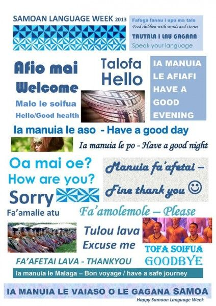 You re welcome in samoan