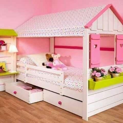 Hermosa cama casita para ni a pinterest - Ver camas para ninos ...