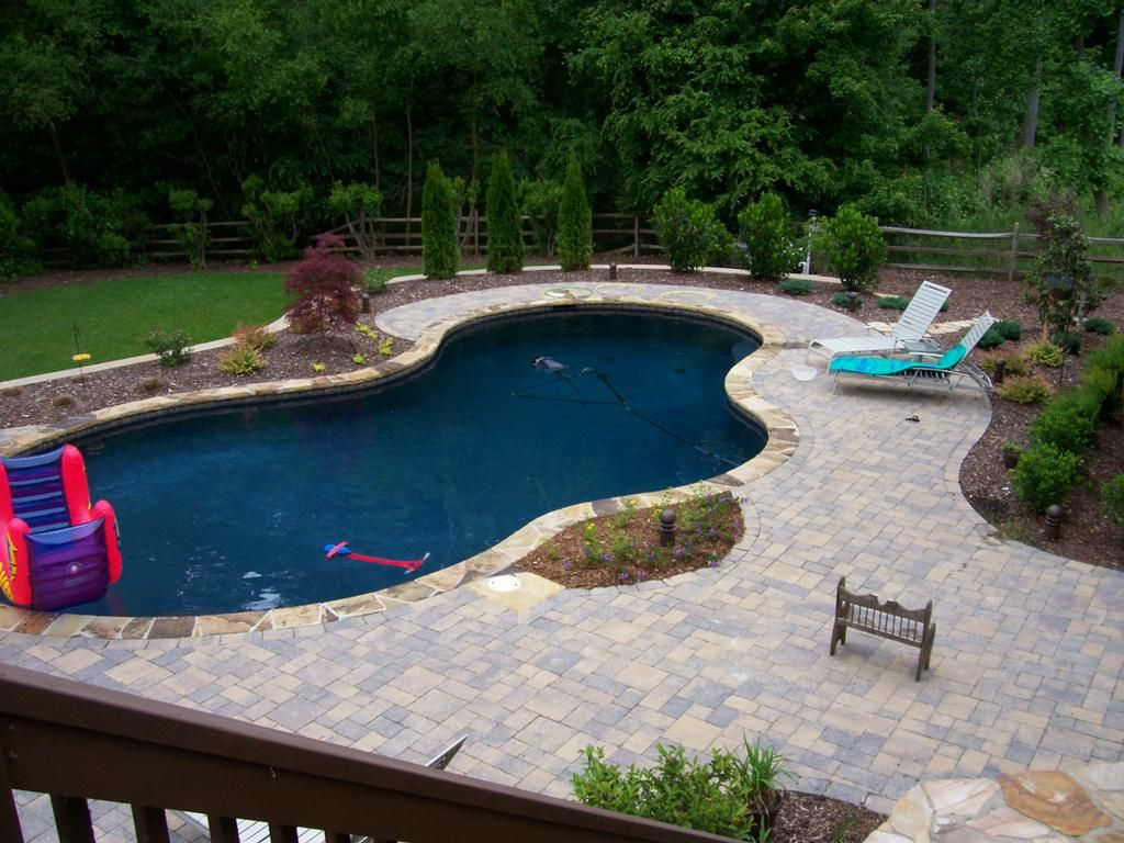 Basic pool designs and landscaping landscape design for Swimming pool landscaping ideas