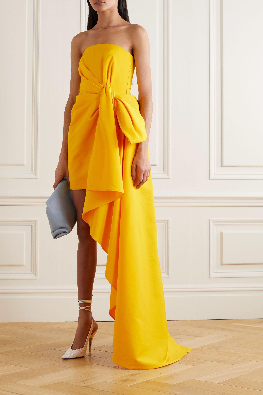 Yellow Strapless Draped Faille Mini Dress Carolina Herrera In 2021 Carolina Herrera Carolina Herrera Dresses Carolina Herrera Gown [ 3000 x 2000 Pixel ]