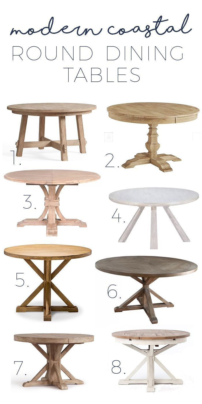 Modern Coastal Round Dining Tables Gorgeous Options As Low As