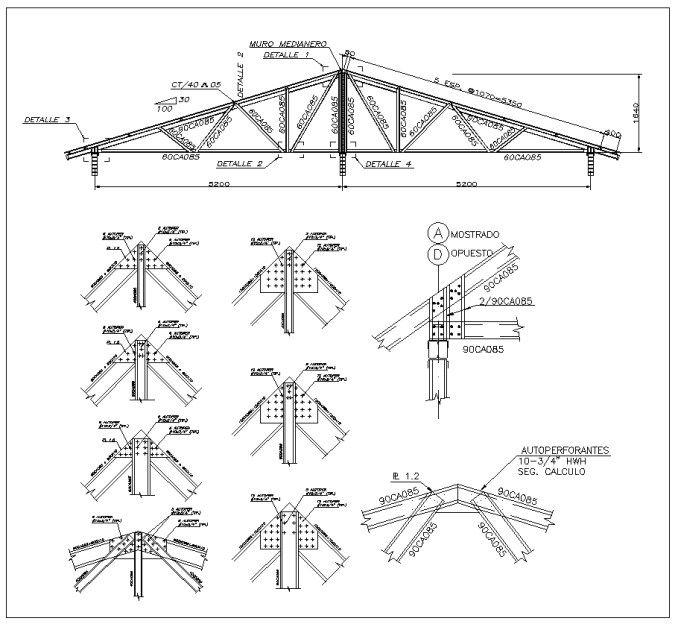 Cad Blocks Of Steel Structure Design Of Steel Frame