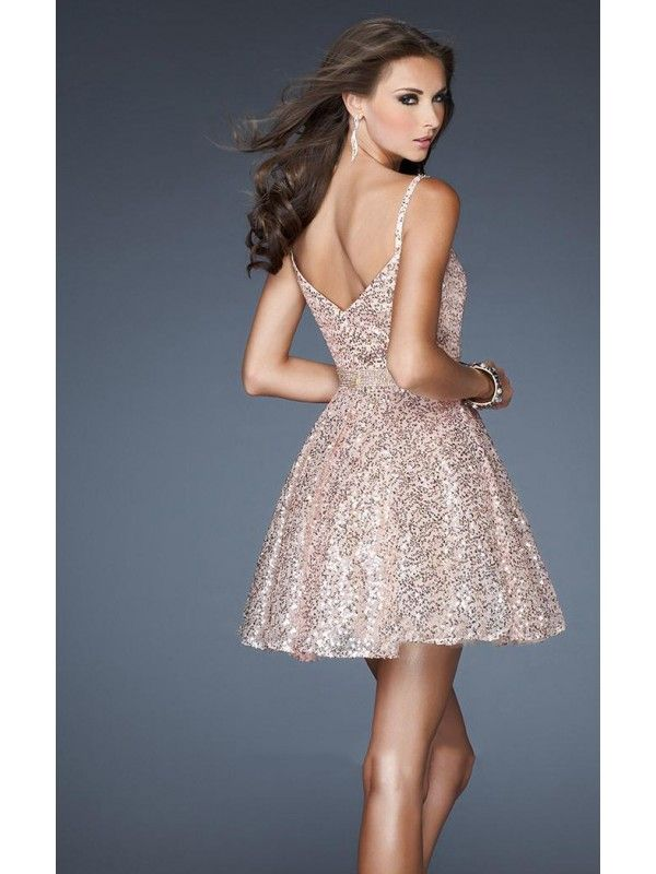 Baby Doll Spaghetti Straps Backless Natural Tulle Sleeveless Homecoming Dresses