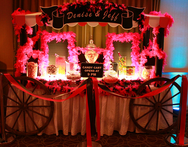 candy table ideas for weddings wedding candy cart roped off with party streamers to
