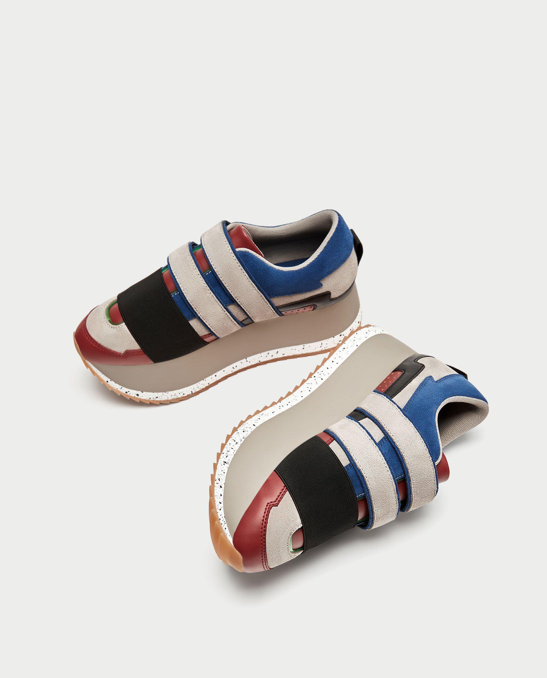 Zara Multicolored Platform Sneakers
