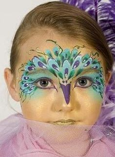 1000 ideas about peacock face painting on pinterest