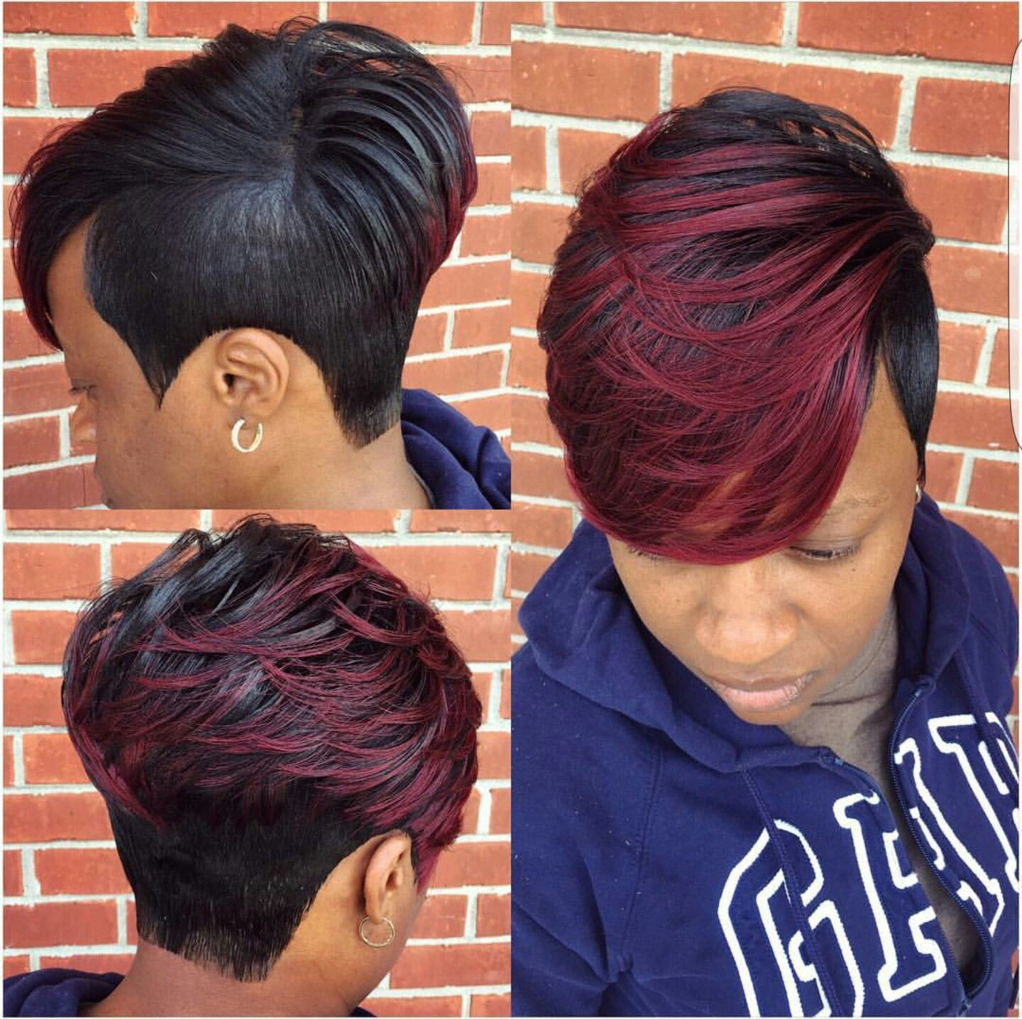 i want this | hair | 27 piece hairstyles, short black