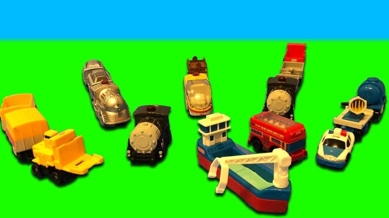 Carros, Escavadeira, Trem e Carro de Policia de Brinquedo para crianças - YouTube