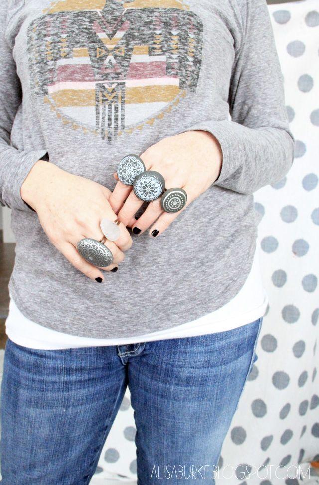 alisaburke: fashion friday-stone statement rings