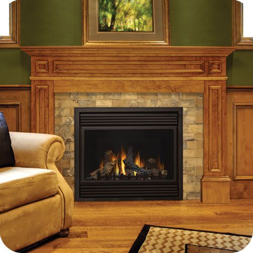 Honey oak mantel