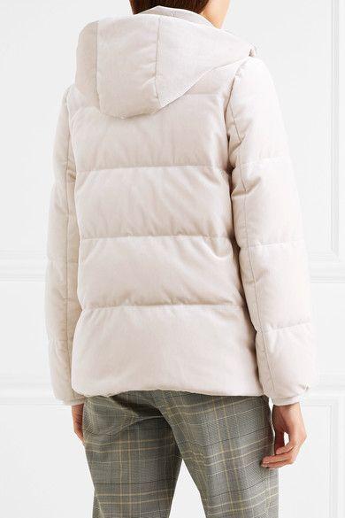 Brunello Cucinelli Quilted Velvet Down Jacket Jackets Down Jacket Quilted Jacket