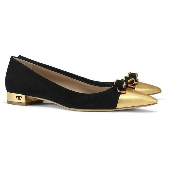 5a60a25119a Tory Burch Belleville Ballet Flats (£240) ❤ liked on Polyvore featuring  shoes