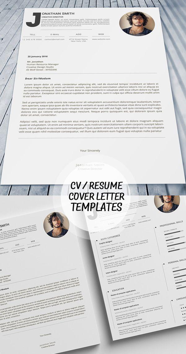 Premium Cv Design Template  Cover Letter  Portfolio
