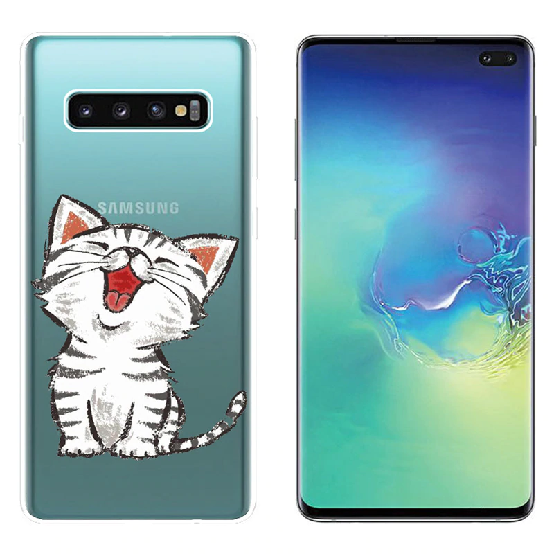 Case For Samsung Galaxy S10 Plus Case Soft Silicone Phone Back Protector Cover Fundas For Samsung Samsung Cases Samsung Galaxy Soft Silicone