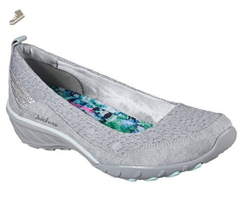 Skechers Women's Relaxed Fit Savvy Winsome Wedge,Gray,US 7 M