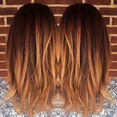 blonde, caramel, balayage, warm, copper, color melt, lowlights, honey