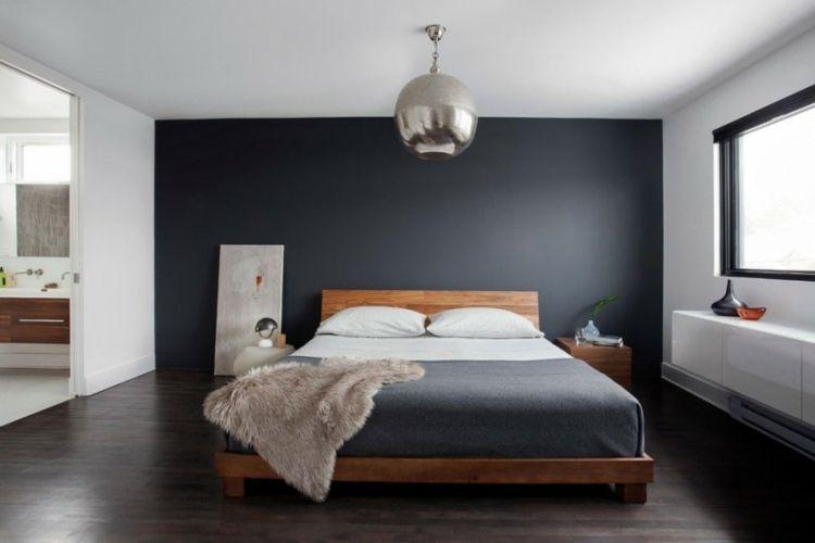 Beautiful Chambre Gris Fonce Et Blanc Ideas - Design Trends 2017 ...