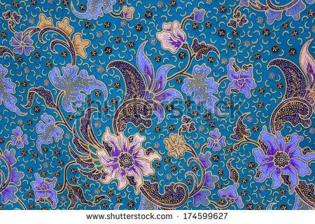 Malaysian batik is usually patterned with floral motifs with light