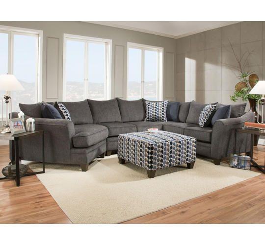 Albany Slate 3pc Sectional Art Van Furniture Living Room Sets