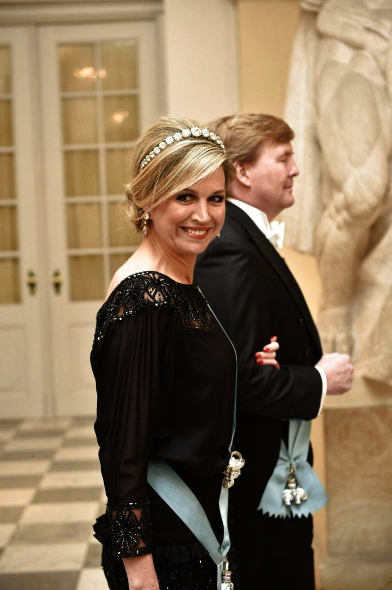 Queen Maxima of the Netherlands wore the Diamond Bandeau Tiara at the 75th birthday c TIARA ALERT Queen Maxima of the Netherlands wore the Diamond Bandeau Tiara at...