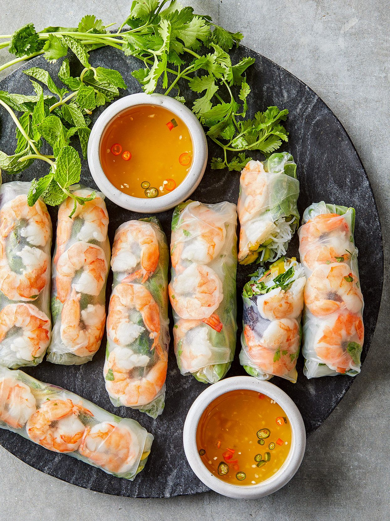 Shrimp And Mango Rice Paper Rolls Recipe Rice Paper Recipes Spring Rolls Rice Paper Rolls