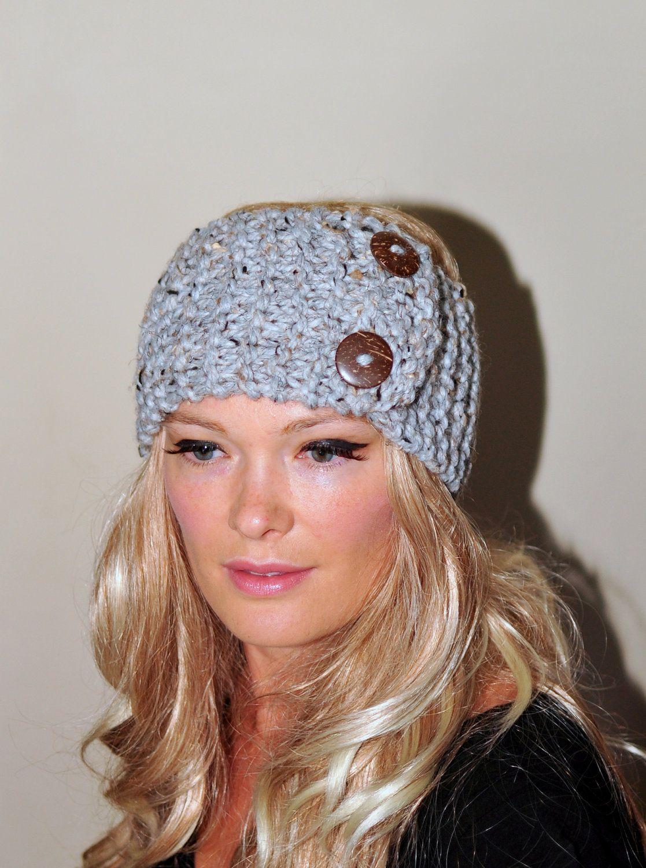 Earwarmer buttons via etsy stuff i want to make pinterest earwarmer buttons winter wool crochet headband chunky by lucymir bankloansurffo Image collections