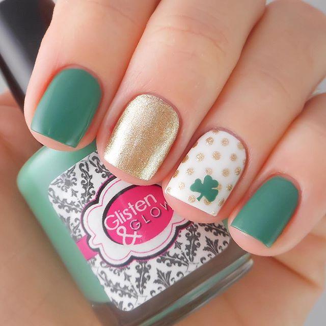 St. Patrick's Day Nails Irish Nail Designs, Nail Art Designs, Fancy Nails  Designs - St. Patrick's Day Nails Luck O The Irish! Saint Patrick's Day