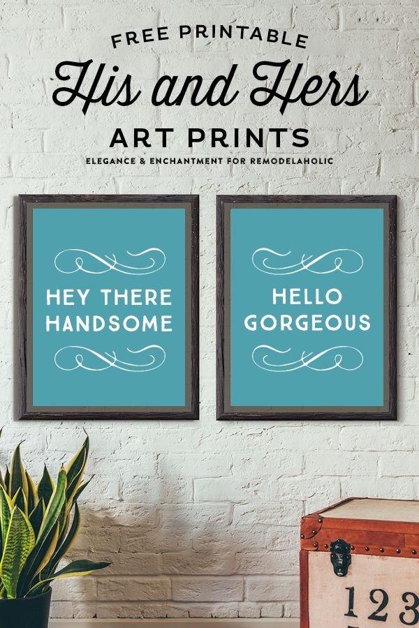 His And Hers Art Prints Free Printable Elegance Enchantment Wall Prints Free Free Art Prints Bathroom Art Decor