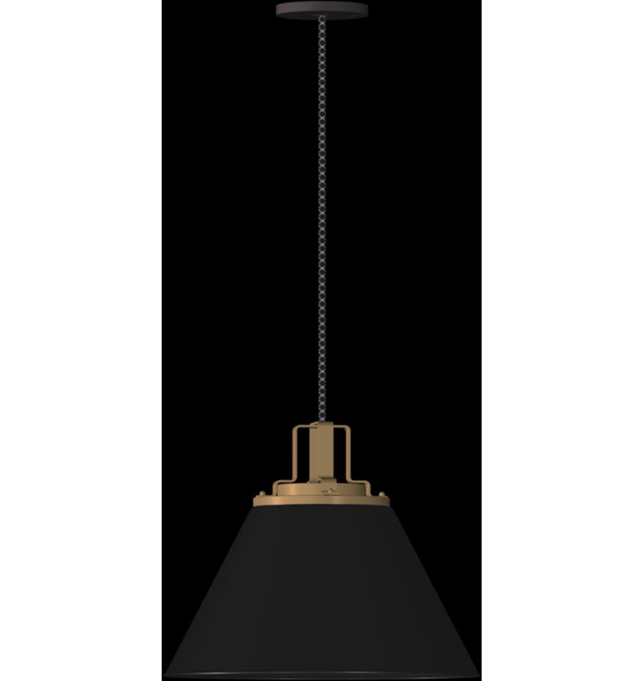 Gold Golden Lighting 3306-M AB One Light Pendant