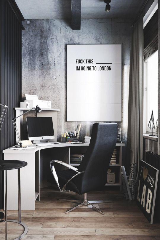 fabulous modern office interior design ideas   Follow Minimal Setups on Instagram.   Home office design ...