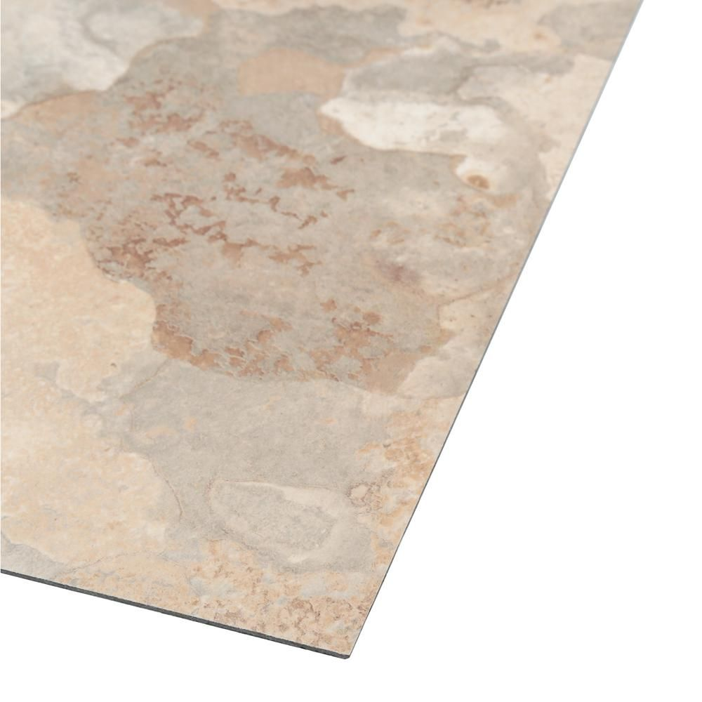 Trafficmaster Beige Slate 12 In X Solid Vinyl Tile 30 Sq Ft Case Tm806c The Home Depot
