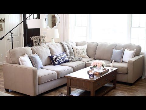Living Room Tour Youtube Alenya Sectional Living Room Room Tour