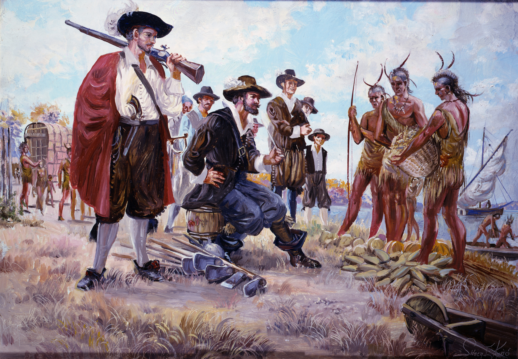 american indians and european colonists The assimilation of american indians into american society was a process that took upwards of 300 years at first, when the european colonists reached american shores, they had no need for more than limited contact with the indigenous natives of the land.
