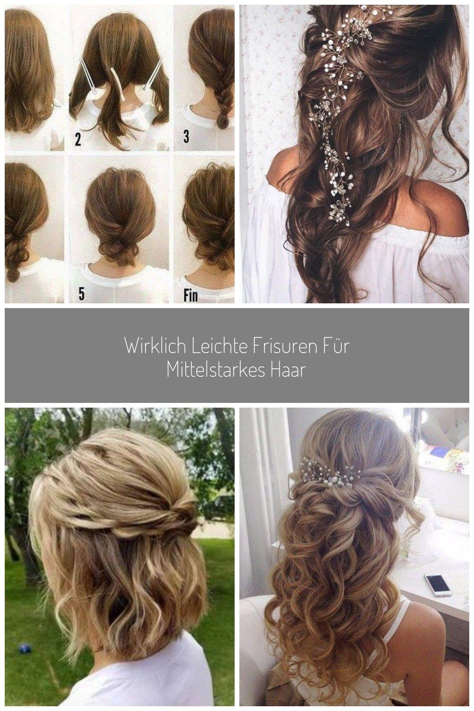 Wirklich Leichte Frisuren Fur Mittelstarkes Haar Hochzeit Hochzeitsfrisuren Langehaare Locken Sti Locken Lange Haare Leichte Frisuren Lange Haare Hochzeit