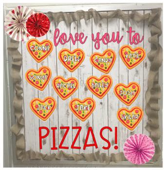 Valentines Pizza Bulletin Board Craft #valentinesdaybulletinboardideas