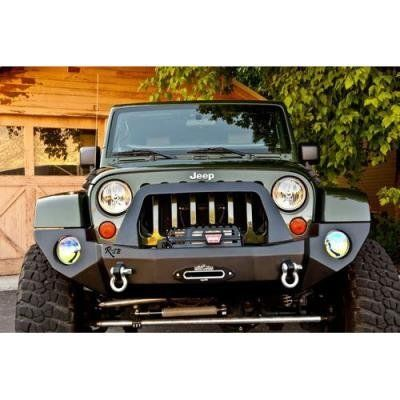Rock Slide Engineering Rigid Full Front Bumper Fb F 100 Jk In The