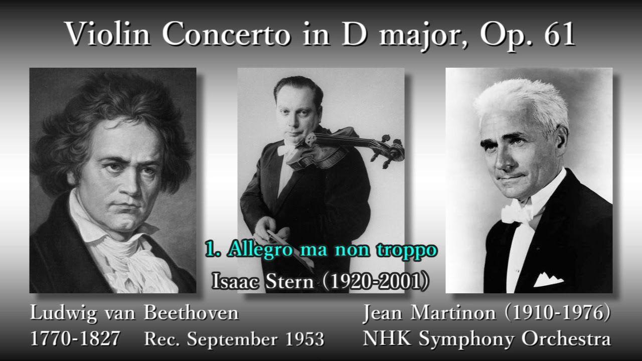 beethoven violin concerto stern  martinon 1953