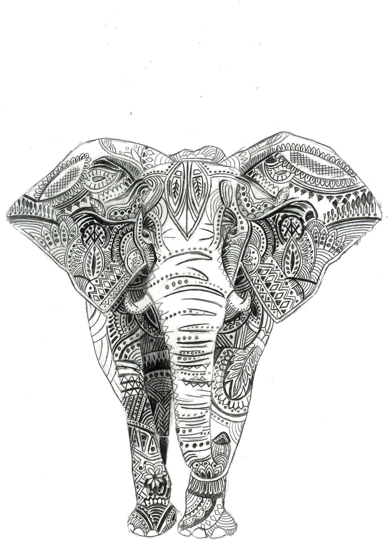 indian elephant tattoo - Google Search | Tattoo! | Pinterest ...