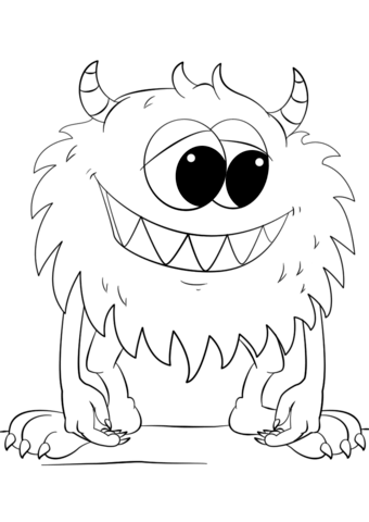 Cute Cartoon Monster Coloring Page Abc Coloring Pages Monster Coloring Pages Cartoon Coloring Pages