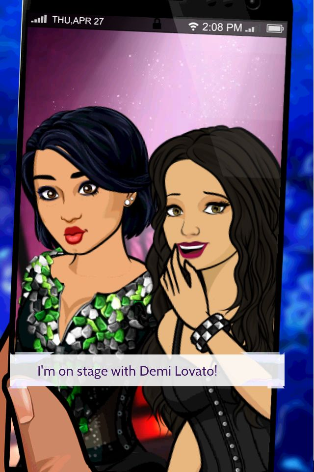 I got a photo on stage with Demi Lovato! http://bit.ly/EpisodeHere